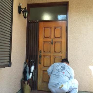 ドア取付施工の施工前写真(0枚目)