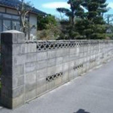 ブロック塀改修工事前