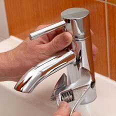 混合水栓蛇口の交換