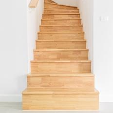 階段のフローリング張替え