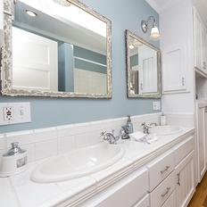 洗面所のクッションフロア張替え